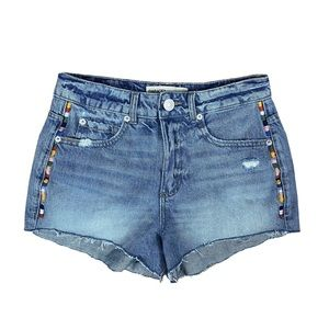 Garage High Wasited Festival Embroidered Shorts 1